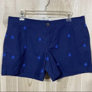 """Old Navy Mid Rise Sailboat 5"""" Shorts Blue Size 10"""